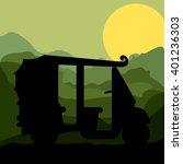 rickshaw trasnportation design  | Shutterstock .eps vector #401236303