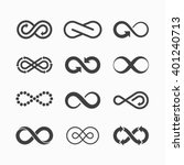 infinity symbol icons vector... | Shutterstock .eps vector #401240713