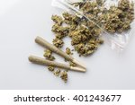 pile of medical cannabis dried... | Shutterstock . vector #401243677
