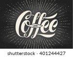hand drawn lettering... | Shutterstock .eps vector #401244427