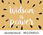 wisdom is power philosophical... | Shutterstock .eps vector #401250013