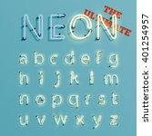 realistic neon character... | Shutterstock .eps vector #401254957