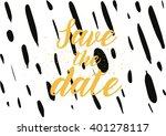 save the date inscription.... | Shutterstock .eps vector #401278117