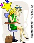 illustration of business women...   Shutterstock .eps vector #40128742