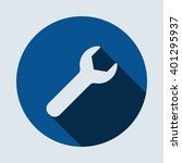 wrench icon  isolated vector... | Shutterstock .eps vector #401295937