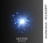 lightning on a transparent... | Shutterstock .eps vector #401302897