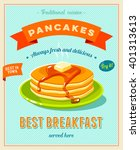 best breakfast   vintage... | Shutterstock .eps vector #401313613