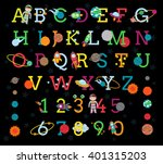 vector space alphabet with all... | Shutterstock .eps vector #401315203