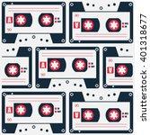 retro style cassette tape... | Shutterstock .eps vector #401318677