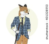 fox dressed up in sophisticated ...
