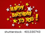 happy birthday greeting card on ...   Shutterstock .eps vector #401330743