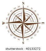 brown compass rose isolated on... | Shutterstock . vector #40133272