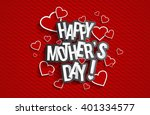 creative happy mother's day... | Shutterstock .eps vector #401334577