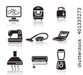 household appliances icon set... | Shutterstock .eps vector #401335273