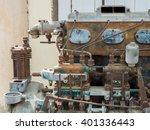 old rusty motor engine | Shutterstock . vector #401336443