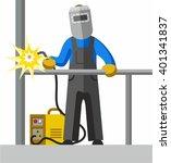 welder  full colour picture.... | Shutterstock .eps vector #401341837