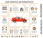 car service infographics for... | Shutterstock .eps vector #401342083
