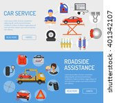 car service and roadside... | Shutterstock .eps vector #401342107