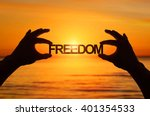 silhouette  close up hand... | Shutterstock . vector #401354533