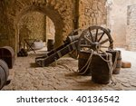A Historical Cannon In A...