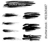 vector set of grunge brush... | Shutterstock .eps vector #401365687