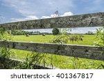 round bales of hay are seen... | Shutterstock . vector #401367817