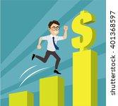 employee jump success money sky ... | Shutterstock .eps vector #401368597