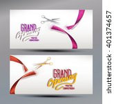 grand opening banners with... | Shutterstock .eps vector #401374657