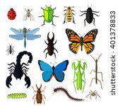 set of various insects design... | Shutterstock .eps vector #401378833