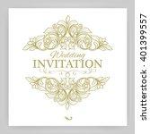 ornate frame and scroll... | Shutterstock .eps vector #401399557