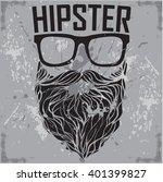 hipster print for t shirt.... | Shutterstock .eps vector #401399827
