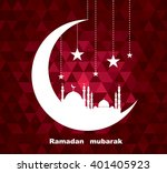 illustration of ramadan ... | Shutterstock . vector #401405923