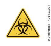biohazard sign. vector... | Shutterstock .eps vector #401411077