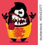 music fan. monster vector design | Shutterstock .eps vector #401421577