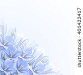 vector corner background with... | Shutterstock .eps vector #401422417