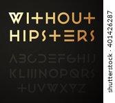 vector hipster geometric font.... | Shutterstock .eps vector #401426287