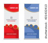 banner roll up design  business ... | Shutterstock .eps vector #401432413