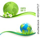 green banners with globe for... | Shutterstock .eps vector #401434717