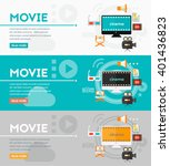 video production and motion... | Shutterstock .eps vector #401436823