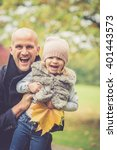 daddy and daughter having fun...   Shutterstock . vector #401443573