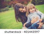 mummy and daughter having fun...   Shutterstock . vector #401443597