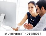 business people in modern office | Shutterstock . vector #401458087