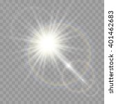 vector transparent sunlight... | Shutterstock .eps vector #401462683