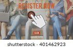 Small photo of Register Now Application Apply Concept