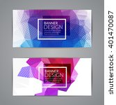 set of polygonal triangular... | Shutterstock .eps vector #401470087