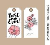 set of vector gift tag design...   Shutterstock .eps vector #401482633