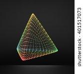 pyramid. regular tetrahedron.... | Shutterstock .eps vector #401517073