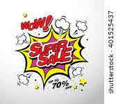 wow  super sale banner template ... | Shutterstock .eps vector #401525437