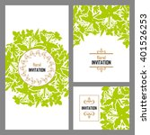 romantic invitation. wedding ... | Shutterstock . vector #401526253
