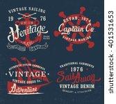 Vintage Marine Graphic Design...